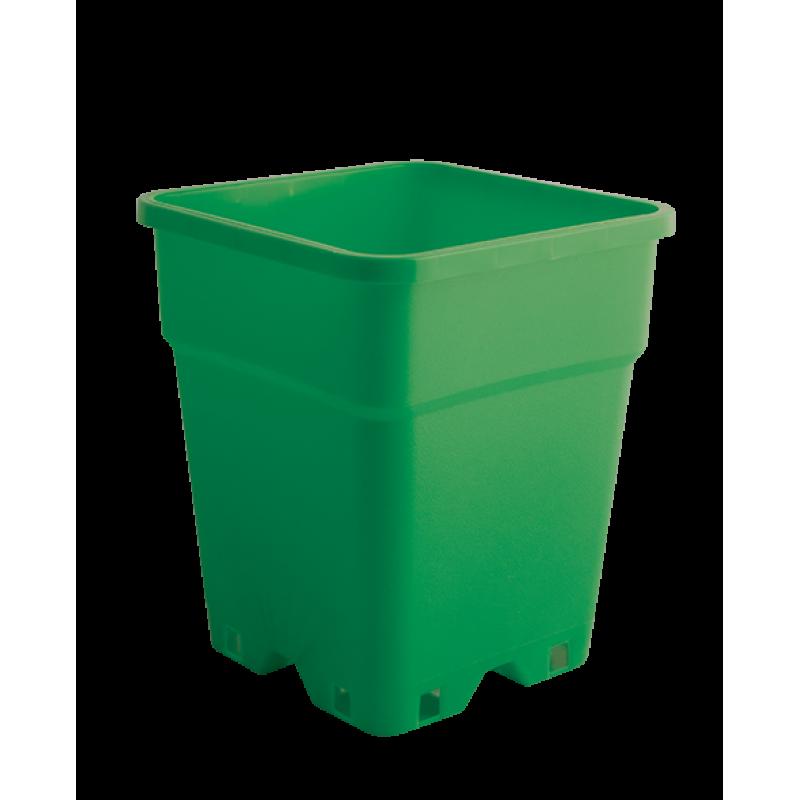 Plantcontainer 24x24x28,3 cm. 11 Liter groen